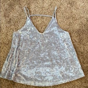 American Eagle Velour Tank Top